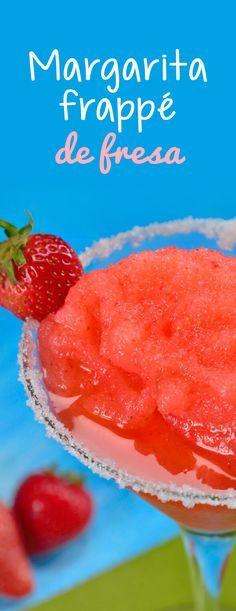Dale la vuelta la clásica margarita de limón y prepara esta facilísima receta de margarita de fresa que es súper refrescante para los días calurosos y muy original para que sorprendas a tus amigos. ¡No dejes de probarla!