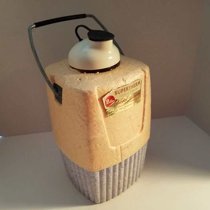 Vintage Poloron Supertherm Styrofoam Pelican Cooler W/Handle Vacucel Insulated #Poloron