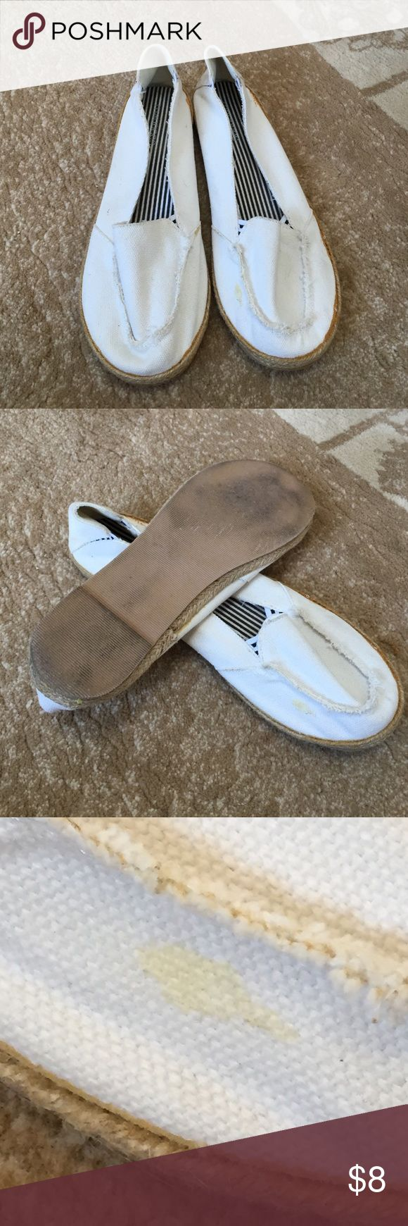 White slip ons shoes Maurice flat slip ons little spot on shoe Maurices Shoes Flats & Loafers