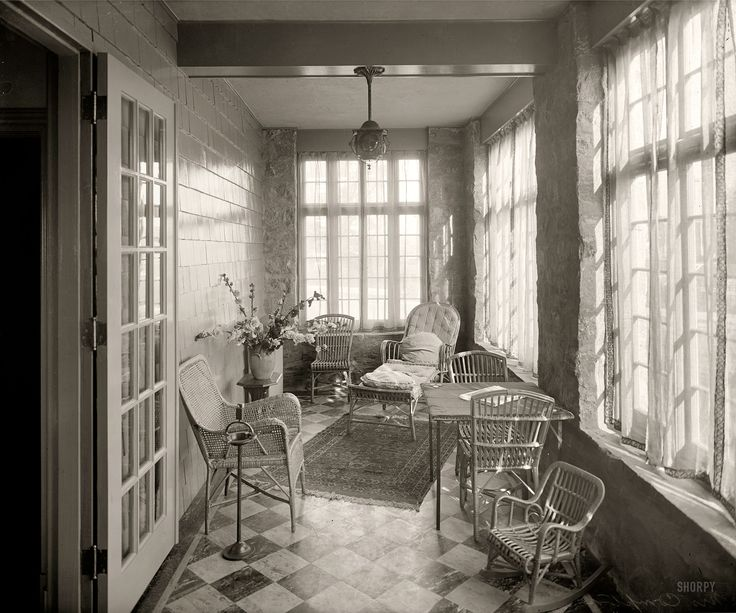 Shorpy Historical Photo Archive Sun Porch 1920 A