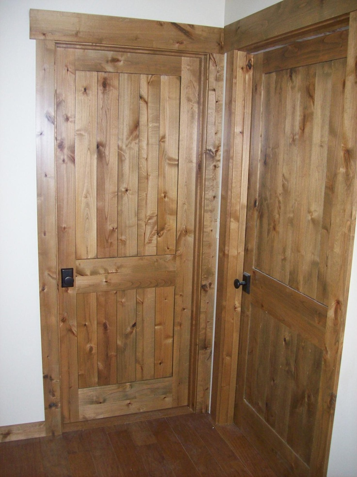 knotty alder doors and trim. i like the shade of stain ... |Knotty Alder Door Trim