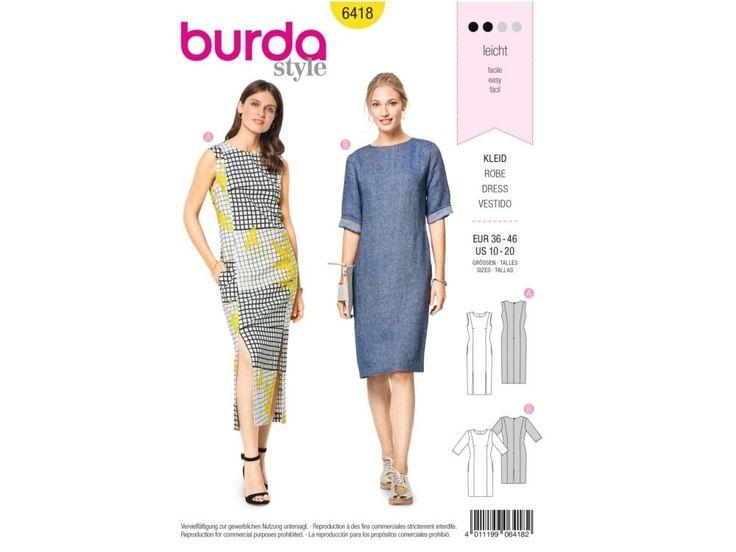 Sewing pattern dress, Burda 6418   tissus-hemmers.fr