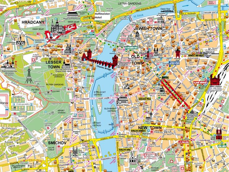 Carte prague touristique