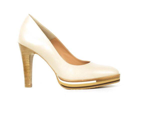 Zinda pumps beige - Schoenen Moernaut