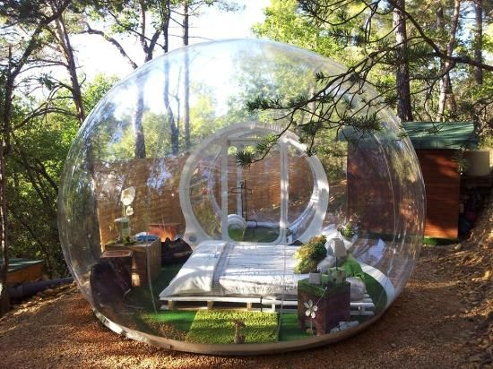"""Attrap'Reves Provence, France 10 extraordinary hotel beds """"Sleep under the trees and the stars...enjoy the silence of the woods"""""""