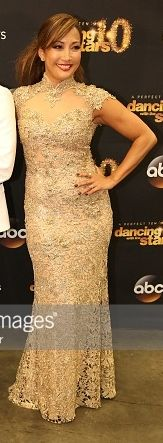 Carrie Ann Inaba in Jovani - DWTS 10th Anniversary