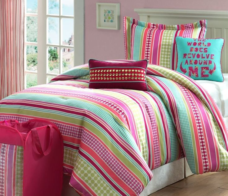Colorful stylish bedding for teen girls colorful bedding pinterest room ideas bedrooms - A nice bed and cover for teenage girls or room ...