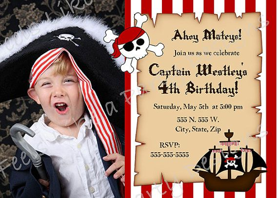 Custom Pirate Birthday Invitation with Photo by FeelsLikeAParty