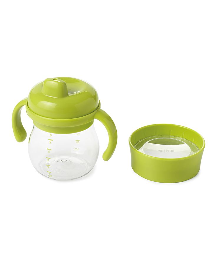 Green 6-Oz. Transitions™ Sippy Cup & Open Trainer Lid
