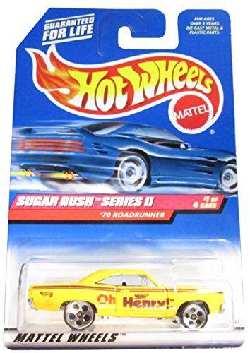 Sugar Rush 2 Series #1 1970 Roadrunner #969 Collectible Collector Car Mattel Hot Wheels