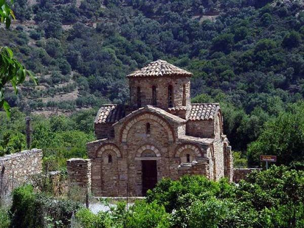 Chapel at El Greco Museum and birthplace, Fodele, Crete, Greece...