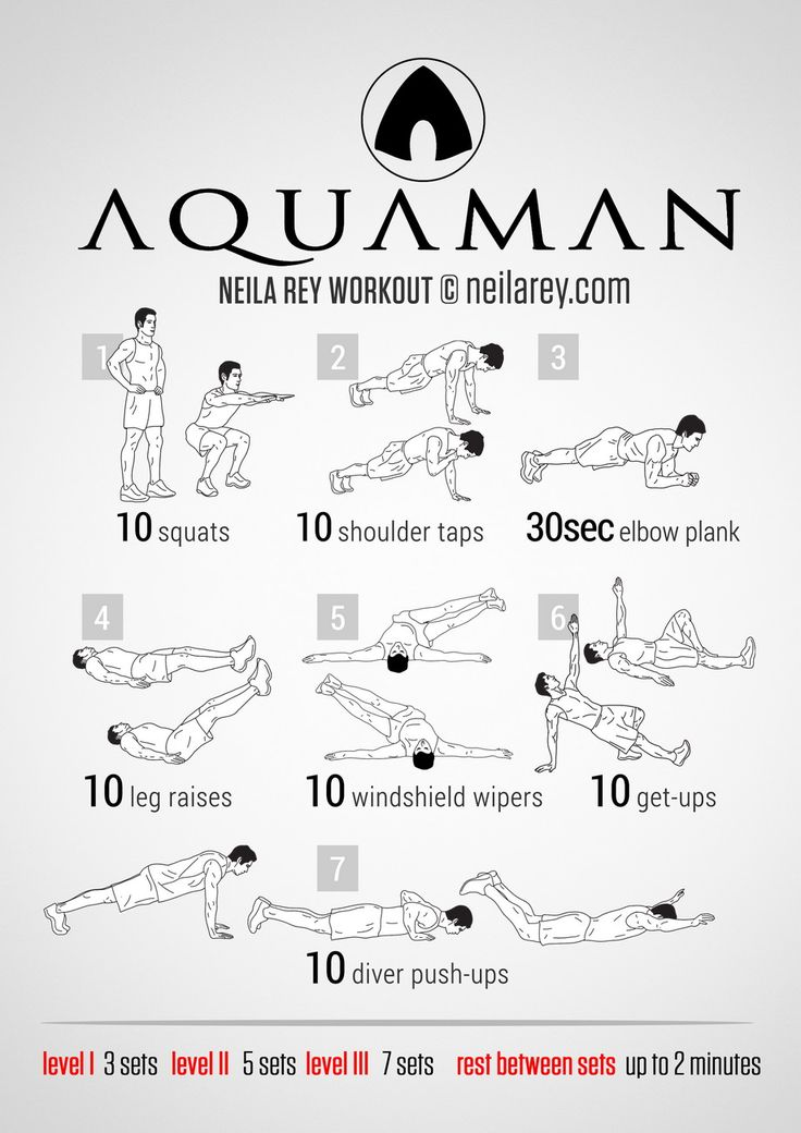Aquaman Workout | neilarey.com | #fitness #bodyweight
