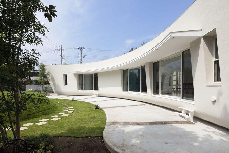 Garten Landschaftsbau Ideen mit flüssigen organischen zentrale Innenhof Fluid Bio & nachhaltige Vermögenswerte Featured In ein japanisches Home von Hideo Kumaki Büro Architekten