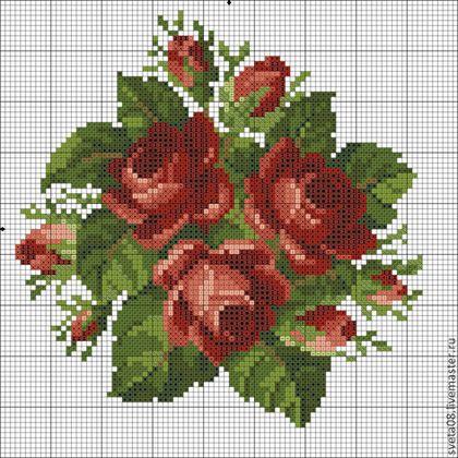 Купить или заказать Сумочка 'Розы на черном'. в интернет-магазине на Ярмарке Мастеров. Сумочка связанна с бисером.Рисунок с одной стороны. Высота 18 см, ширина 18 см.