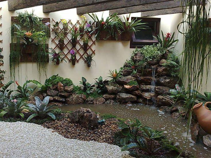 ideias para fazer um jardim bonito:cascatas: jardim de inverno com cascata-res. Alto de Pinheiros – SP