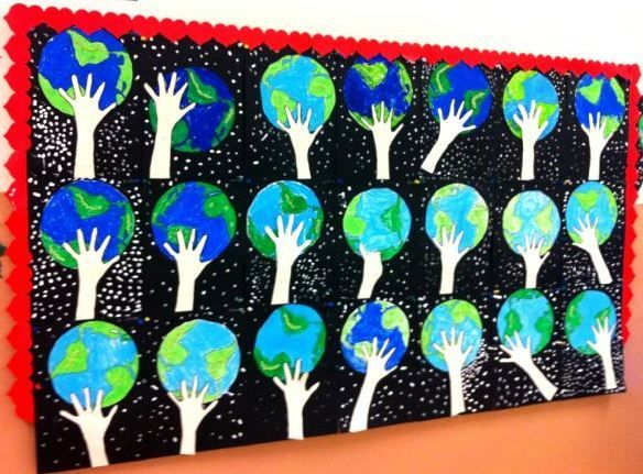 The link does not go to the page for this project, but I'm hoping I can still recreate this for Earth Day ...
