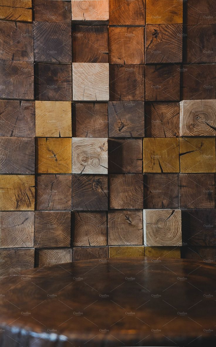 Modern Wood Texture On Wall In Cafe Dream Living Room In