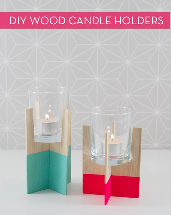 Make It: Balsa Wood Candle Holders Without A Saw » Curbly | DIY Design Community