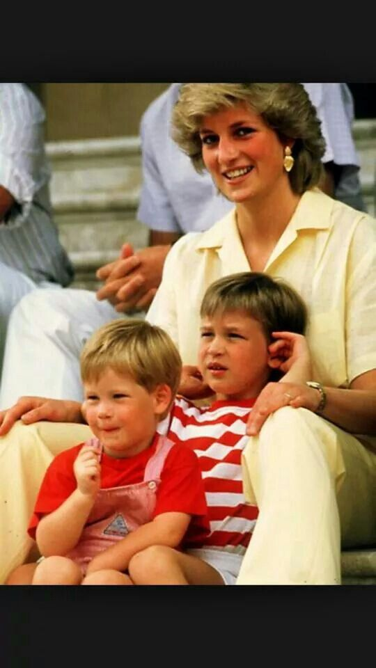 Diana with William and Harry!