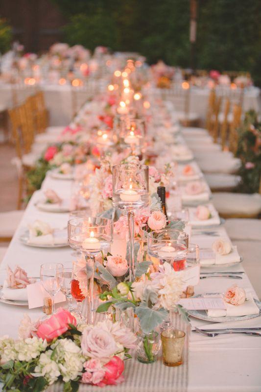 Striped Linen Table Runner Reception Decor | photography by http://christinefarah.com