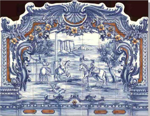 Azulejos carrelage decoration r dition d 39 un d tail de for Fresque carrelage