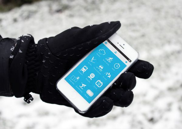 Chamonix Experience iPhone app. by 56.2˚ , via Behance
