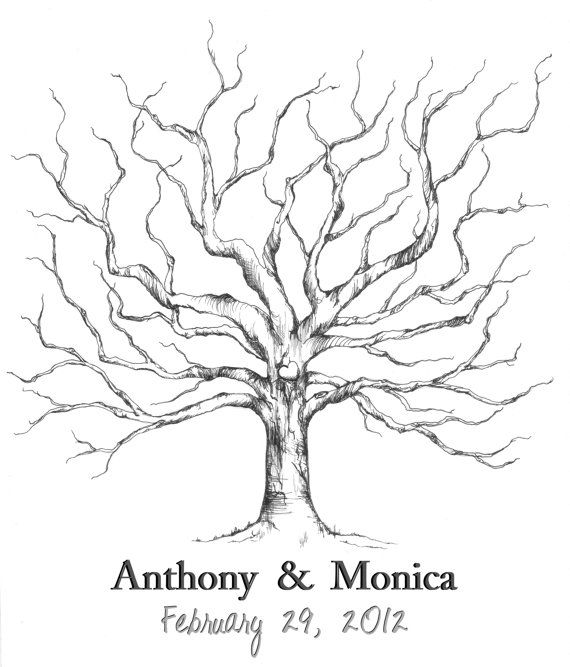 Small Fingerprint Live Oak Tree Wedding Guest Book Hand Drawn: 17+ Images About Guest Book Ideas On Pinterest