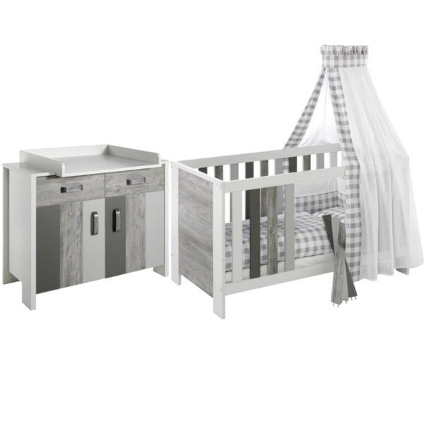 Inspirational Schardt Woody Grey Nursery Furniture Set Cot Changing Table Dresser Collection