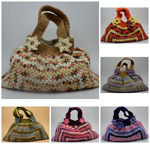 Ravelry: Gorgeous Granny Bag pattern by zelna olivier not free