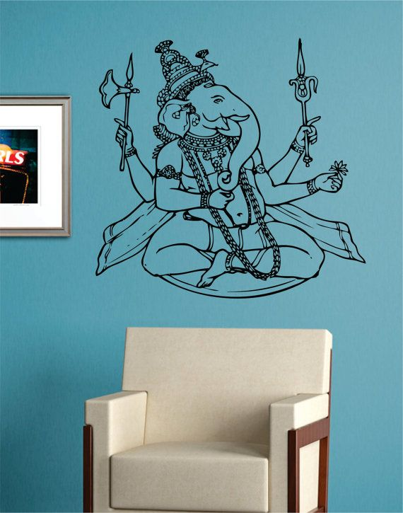 GANESHA ELEPHANT Version 2 Buddha India decal sticker wall Hindu Buddhist