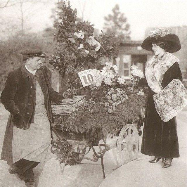 Vendeur de fleurs - Bois de Boulogne 1910