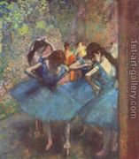 Dancers in blue, 1890  by Edgar Degas