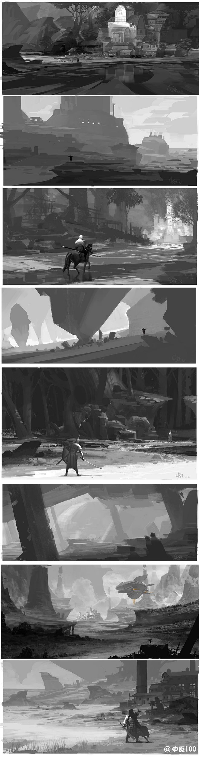 environment design and concept sketches