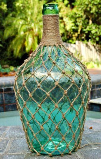 Garrafa de Vidro Decorada com Juta Passo a Passo | Reciclagem no Meio Ambiente