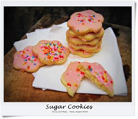 Helena's Budget Kitchen: Sugar Cookies (With special request for Pink Icing and Sprinkles)