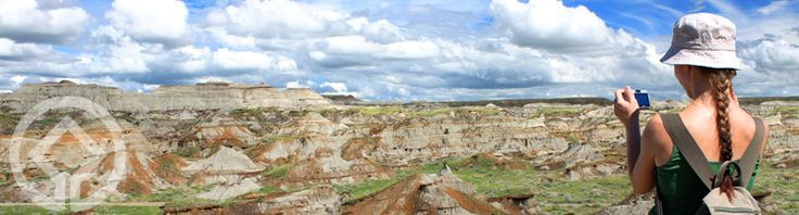 Dinosaur Provincial Park.  Explore the badlands, camp under the stars or participate in a fully authentic dinosaur dig.  You'll be amazed by the abundant fossils, unusual wildlife and stunning landscapes of this UNESCO World Heritage Site near Brooks, Alberta.