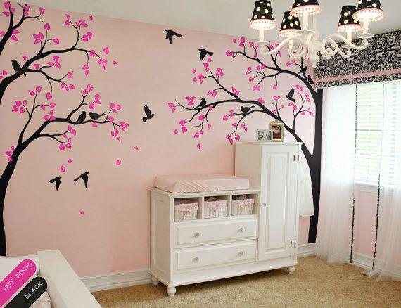 les 25 meilleures id es de la cat gorie stickers muraux arbre sur pinterest autocollants d. Black Bedroom Furniture Sets. Home Design Ideas