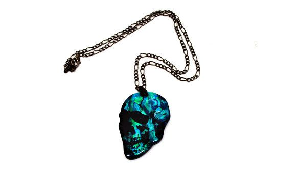 Paua World - Blue Skull Paua Shell Pendant, $27.90 (http://www.pauaworld.com/blue-skull-paua-shell-pendant/)