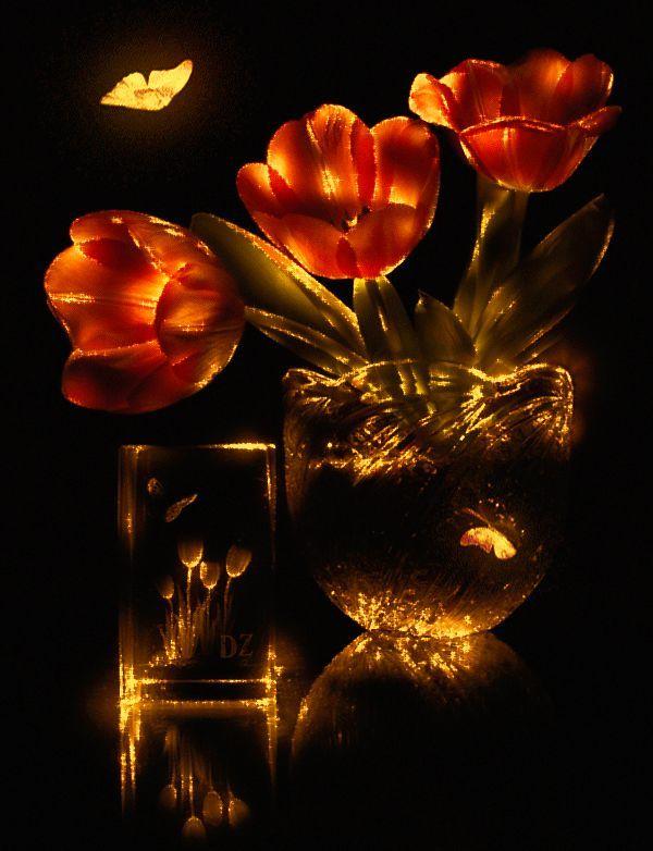 Гифка красивые цветы
