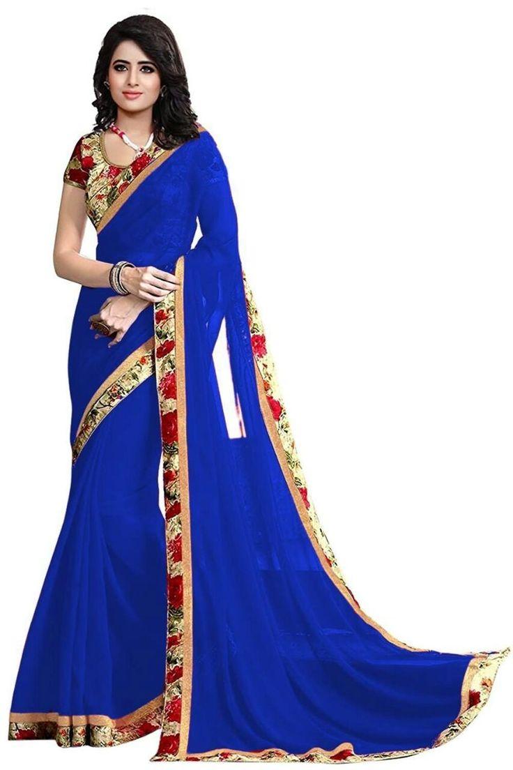 Kapadewala Designer Blue Silk Saree For Women