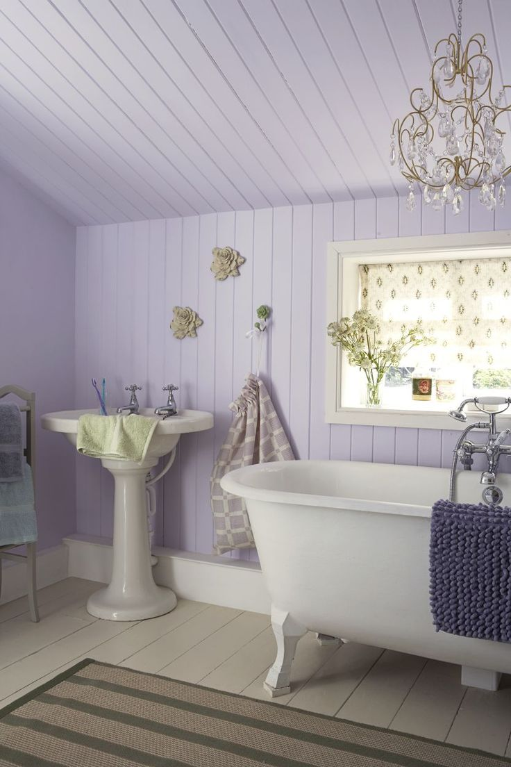 40 best Lavender bathrooms images on Pinterest | Lavender bathroom ...