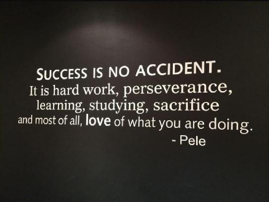 Succes is zweet, succes is hard werken, succes is opstaan na het vallen! #mindset #justdoit