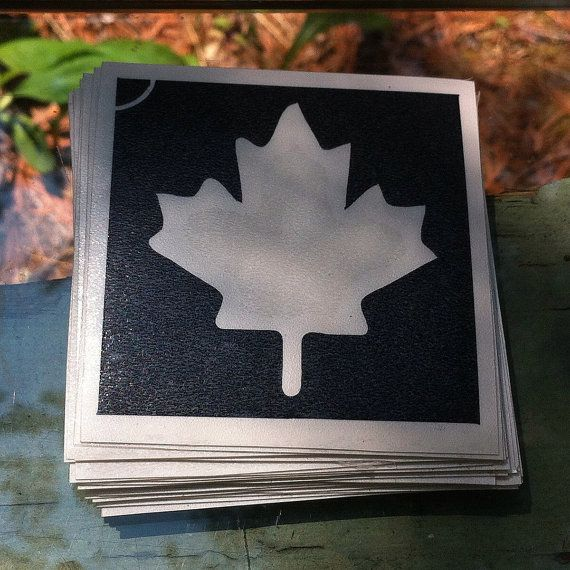 10 Canada Maple Leaf Stencils/Temporary Decals for by DNGLDecals https://www.etsy.com/ca/listing/387219622/10-canada-maple-leaf-stencilstemporary