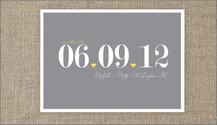 urban chic save the dates