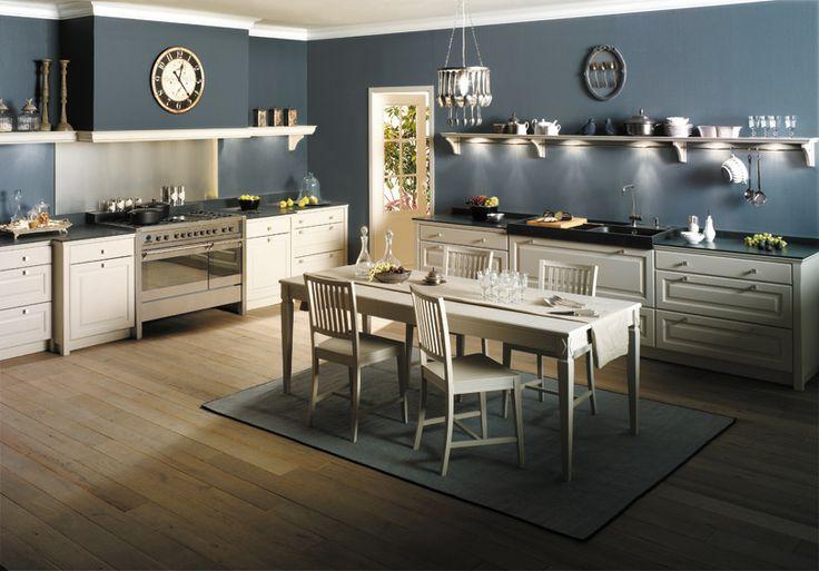 cuisine en bois massif blanc une cuisine quip e. Black Bedroom Furniture Sets. Home Design Ideas