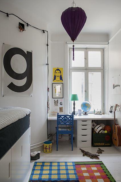 Bokstav industri pickyliving inbyggd säng skrivbord sovrum barn