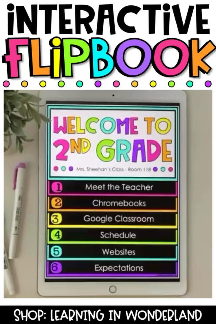 Interactive Digital Back to School Flipbook for Google