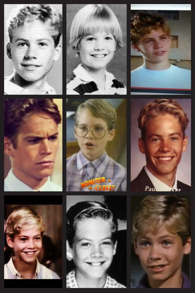 Young Paul Walker collage!! :)