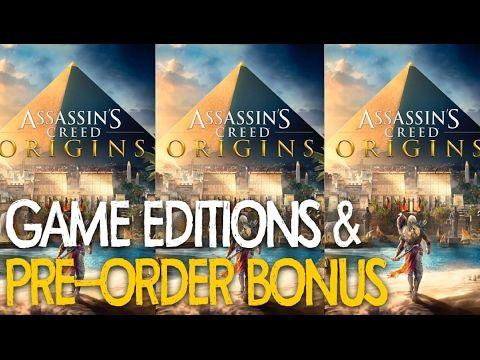 Assassins Creed Origins : Pre-Order Bonus & Game Editions (PS4    XBOX1 ...