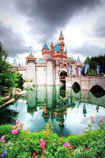 Sleeping Beauty Castle at Disneyland, California, USA
